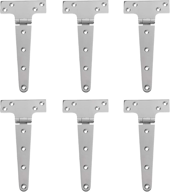Blesiya 6-Pack T-Strap Heavy Duty Shed Hinge Gate Strap Hinge Door Barn Gates Hinges Hardware Rustproof
