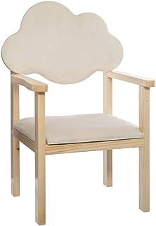 Atmosphera - Chaise pour Chambre d' Enfant Dossier en Forme de Nuage H 62 cm Douceur Lunaire