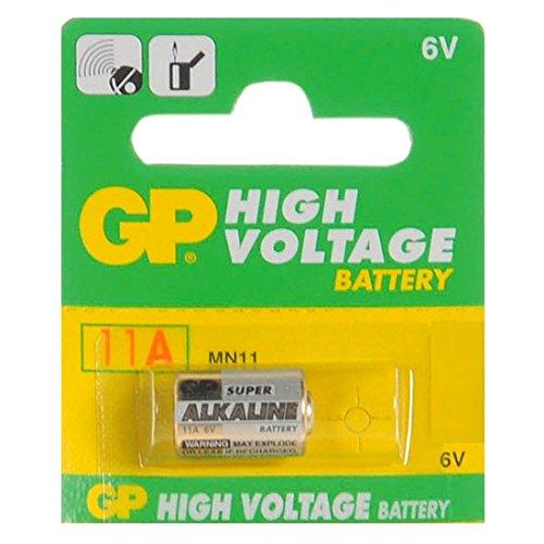 1 pila alcalina 11 A L1016, se vende en un blíster, para utilizarla en mandos a distancia de vehículos, timbres, mecheros y otras muchas aplicaciones