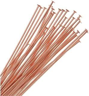 Beadaholique 725Q-2.00 50-Piece Head Pins, 22-Gauge, 2-Inch, Copper