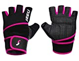 SEEU Women's Men's Weight Lifting Gloves with 17.5' Wrist Wrap for WOD, Gym Workout, Cross Training, Fitness (1 Pair)