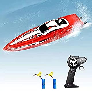 LBKR Tech RC Boat,2.4Ghz Remote Control Boat for Pools Lakes Rivers Ponds,2 Channels Ready to Run RC Watercraft for Kids B...