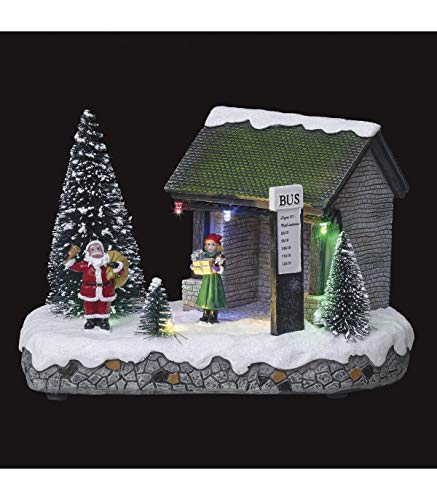 FEERIC CHRISTMAS – Villaggio di Natale luminoso Babbo Natale con arresto di autobus