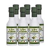 Le Terre di Colombo - Aceite de oliva virgen extra 100% italiano, botellas de aluminio de 250 ml (lote de 6)