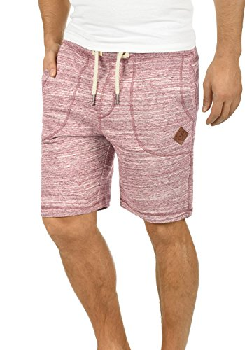 !Solid Aris Herren Sweatshorts Kurze Hose Jogginghose Mit Melierung Und Kordel Regular Fit, Größe:M, Farbe:Wine Red (0985)