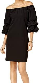 MSK Womens Puff-Sleeve Off-The-Shoulder Dress