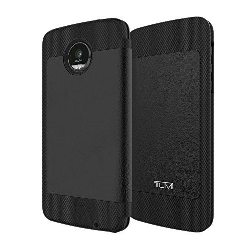 TUMI Folio for Moto Z Force Droid - Full Grain Leather Black