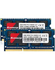 Kuesuny 8GB Kit (2x4GB) DDR3 1333MHz SODIMM PC3-10600 PC3-10600S Non-ECC CL9 2Rx8 1.5V Laptop Notebook Memory RAM Compatible with Intel AMD and Mac