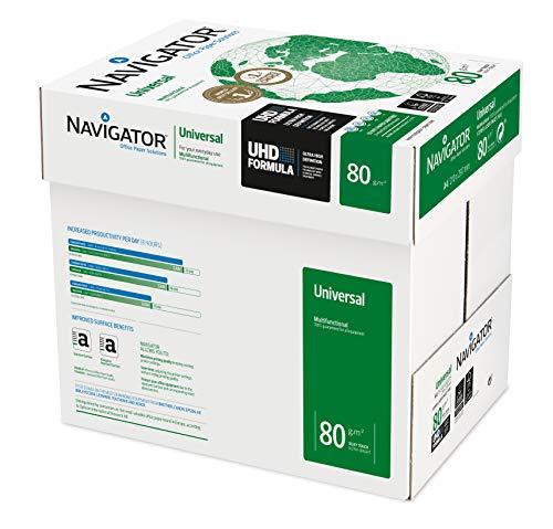Navigator Universal Carta Multifunzione, Formato A4, 80gr, Confezione da 5 risme