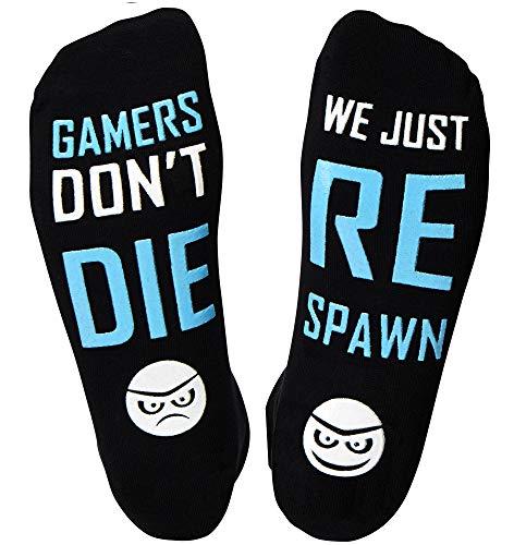 GAMER - Gaming Stuff I Gamer Socks Under 10 Dollars I Unique Nerd Gifts (Purple I Don't Need to ge