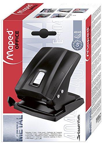 Set Essentials Heftger/ät und Locher aus Metall schwarz Maped M898014