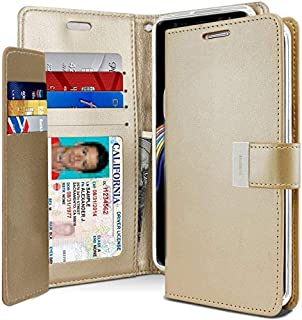 Samsung Galaxy Note 9 Leather Protection Wallet case, Gold
