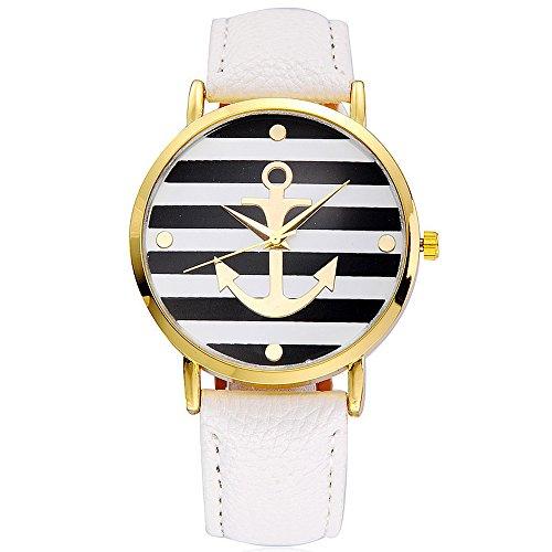 SoulSisters Montre bracelet maritime avec motif ancre