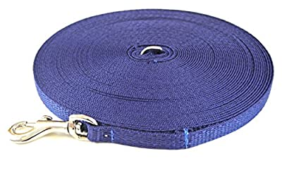 Church Products UK 50ft Dog Training Lead Puppy Obedience Leash 13mm Strong Webbing In (Navy)