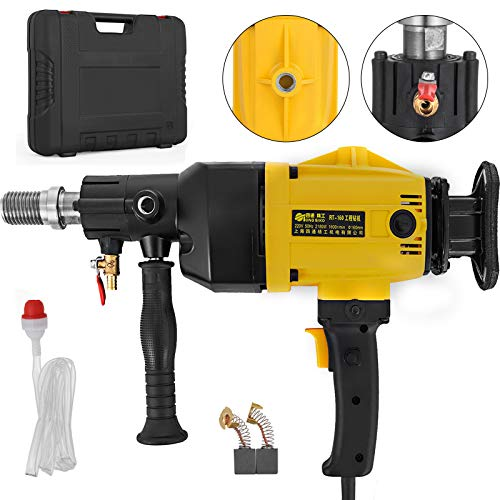 Happybuy Diamond Core Drilling Machine 6 Inch 160 mm Handheld Diamond Core Drill Rig Variable Speed Wet Dry Core Drill Rig for Diamond Concrete Drilling Boring(6' 160mm)