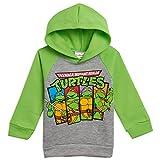 Nickelodeon Teenage Mutant Ninja Turtles Big Boys Fleece Pullover Hoodie Green 7-8