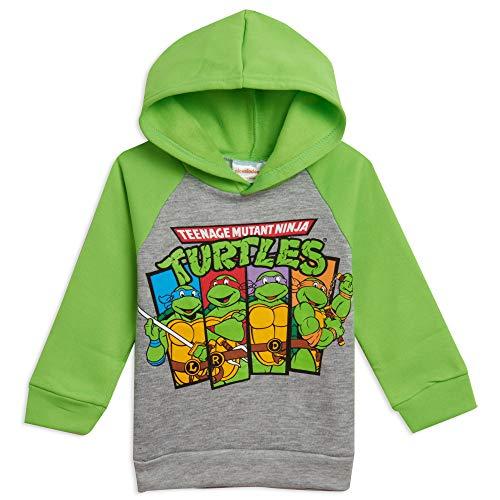 Nickelodeon Teenage Mutant Ninja Turtles Toddler Boys Fleece Pullover Hoodie Green 3T