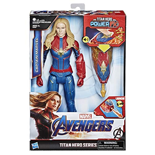 Hasbro Avengers E3307EW0 - Titan Hero Power FX Captain Marvel, Actionfigur
