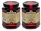 Two 8 oz jars of Mileeven Raspberry & Irish Poitin Preserves Tasty Imported Ireland Preserves in a convenient 2 jar pack This jam blends together the finest of plump local raspberries and triple distilled Poitin A unique, warming and tasty addition t...