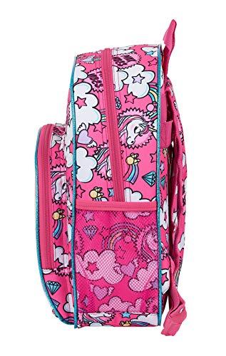 51yU3cYuMcL - Mochila Infantil de Minnie Mouse de safta 612012609, Color Rosa
