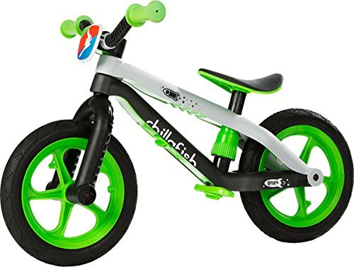 Chillafish BMXie-RS BMX Balance Bike with Airless RubberSkin Tires, Lime - Man on the Moon by Chillafish