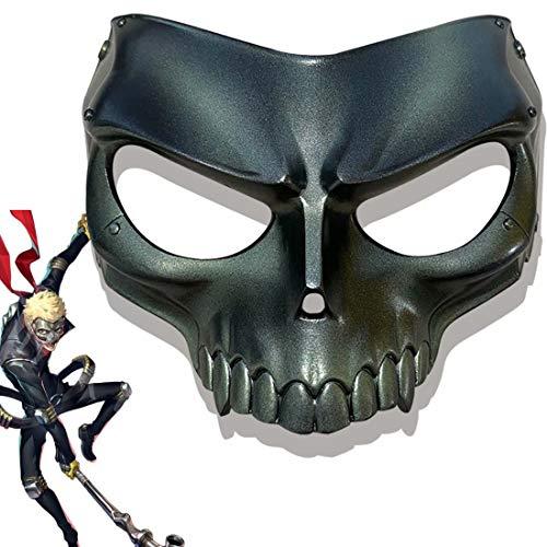 Persona 5 Ryuji Sakamoto Mask P5 Skull Half Face Resin Mask Cosplay Halloween Party Costume Props Bronze