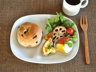 【M'home style】白い食器 軽量ランチプレート ホワイトレベル1