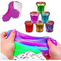German Trendseller® - 6 x minicubos slime magico┃ putty de colores┃fiestas infantiles┃ idea de regalo┃piñata┃cumpleaños de niños┃bolsas sorpresa┃ 6 unidades