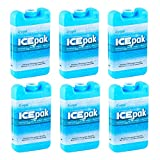 Cryopak Reusable Ice Pack for Lunch Boxes (6 Pack) (Ice Mats for Coolers)