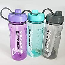 1000ml 1L Herbalife Nutrition Milk Shake Water Bottle With Straw Inside 6 Colours (Orange)