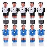 BESPORTBLE Futbolín figuras futbolín hombre mini jugadores piezas de repuesto para futbolín futbolín mesa futbolín 10 unidades