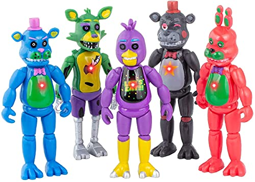 Inspired by Five Night Freddy's|5 pcs Set FNAF Action Figures|Dolls for All Kids Toys Gifts | Foxy Articulated Action|Toys Dolls Gifts Cake Toppers