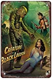 Creature from The Black Lagoon Funny Garage Home Decor Bars Decor Art Poster Vintage Bakery Kitchen Cafe Wall Decoration 12x8 Inches