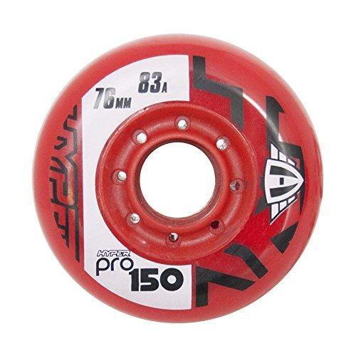 HyperWheels Pro 150 Ruedas Patines, Unisex Adulto, Rojo, 76