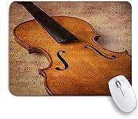 ECOMAOMI 可愛いマウスパッド ヴァイオリン抽象楽器 滑り止めゴムバッキングマウスパッドノートブックコンピュータマウスマット