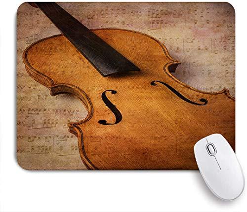 Dekoratives Gaming-Mauspad,Geige abstrakte Musik instrument,Bürocomputer-Mausmatte mit rutschfester Gummibasis