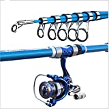 Cana De Pesca Surfcasting Spinning para Mar Profesional Combo per Canne Da Spinning E Mulinello 2.1m, 2.4m, 2.7m, 3.6m,Length(m) 3.6