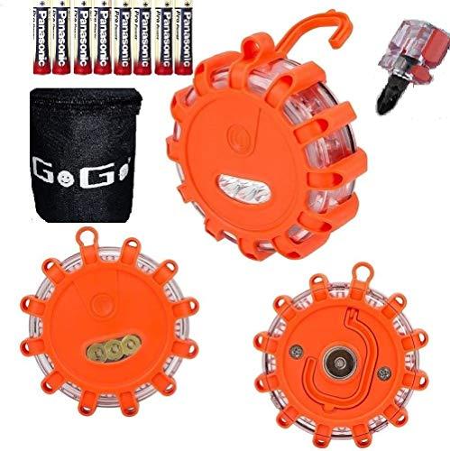 GoGoIT 3 PACK LED Road Flares Flashing Warning Roadside Flare Emergency...
