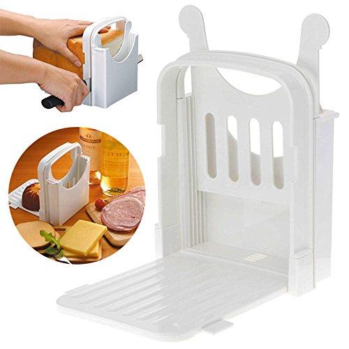 LianLe Trancheuse à pain pliable et réglable avec 4 épaisseurs de tranches