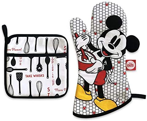 Disney Mickey Mouse Pot Holder and Oven Mitt Set Disney Eats product image