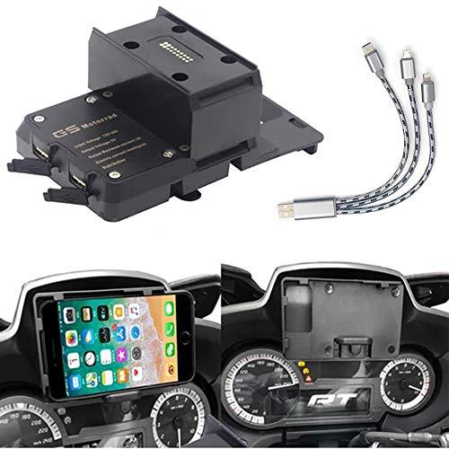 R 1200 RT Piezas de Motocicleta Soporte de navegación para teléfono móvil Carga USB BMW R1200RT Soporte de Montaje para teléfono móvil 2014-2019
