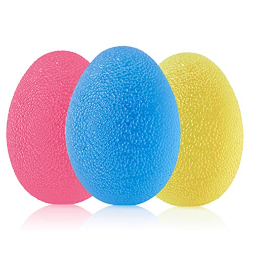CENBEN 3pcs Fortalecedor de Mano Anti Estrés Bolas Juego de Entrenamiento para Practicar Huevo para Ejercicios y Rehabilitación Fortalecimiento de Manos y Dedos