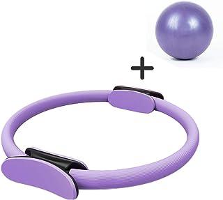 MUYI Kit de Ejercicios de Yoga, Pilates, Fitness, Pilates, Anillo Circular, Pelota de Yoga, Escultura Corporal y Entrenamiento de Resistencia