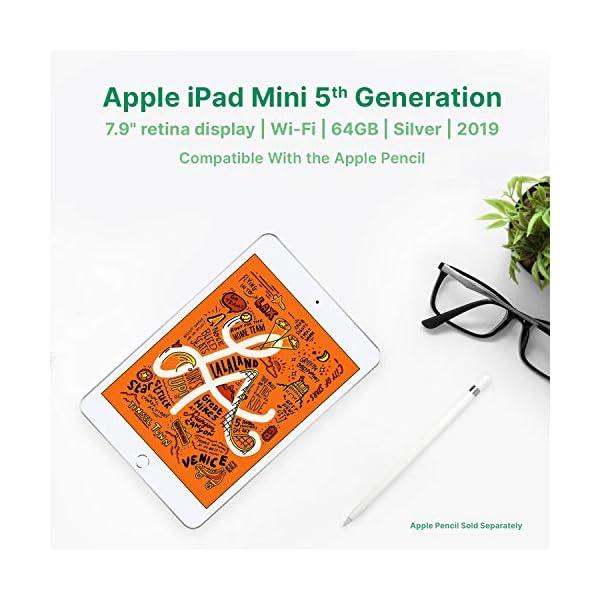 "Apple iPad Mini | 7.9"" | 5th GEN | WI-FI | 64GB | Silver | 2019 | (Renewed) 4"