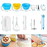 WisFox 103 Teiliges Tortenplatte Drehbar Tortenständer Kuchen Drehteller Cake Decorating Turntable mit Zuckerguss, SpritztüllenTipps-Set, und glatter, Gebäckwerkzeug für Anfänger und Profis - 2