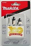 Juego de brocas fresadoras Makita de 3 piezas, de 6 mm, D-53338