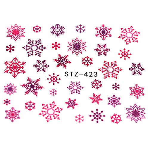 JSIYU stickers ongle 2pcs bande dessinée Nail Art Sticker Set dentelle Glitter Fleur eau Decal Slider Wraps Décor Manucure BF