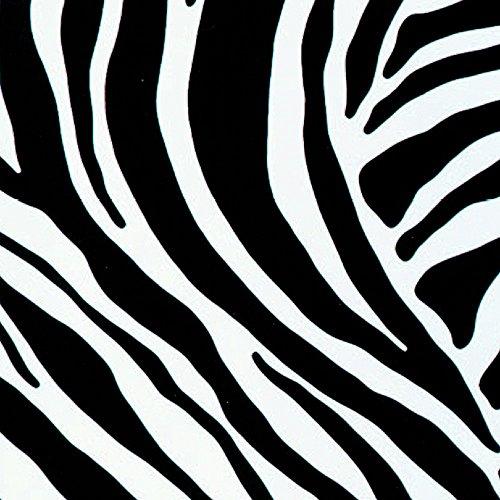 Klebefolie Möbelfolie Zebra Muster schwarz weiß 45 cm x 200 cm Selbstklebefolie Dekorfolie