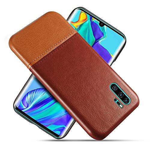 Suhctup Compatible con Huawei Honor 8X MAX/Enjoy MAX Funda Cuero Calidad Ultrafina Estilosa Simple Empalme Estilo Carcasa de Piel Durable Antigolpes Antideslizante Protección Caso(Marrón Marrón)