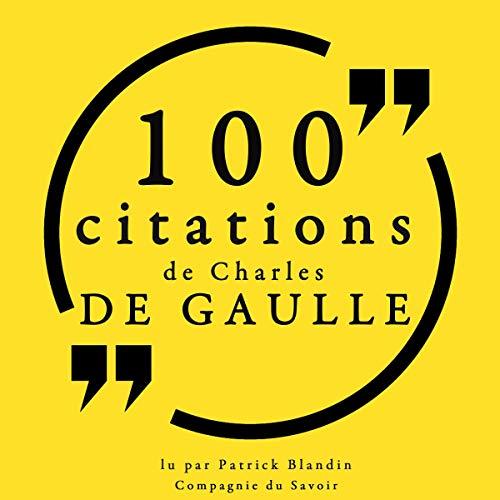 Couverture de 100 citations Charles de Gaulle